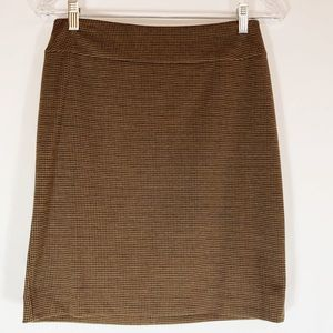 Halogen Skirt in Camel and Brown